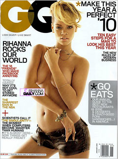 Rihanna Half Naked On Cover Of GQ/Is This A Good Look?