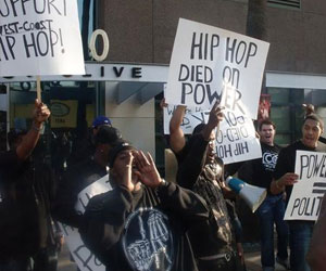 Group Hold Protest Against Power 106/Wake Up Seattle!
